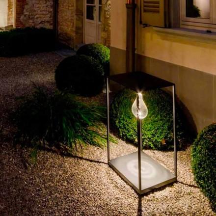 Candeeiro de exterior de ferro artesanal com LED integrado Made in Italy - Cubola