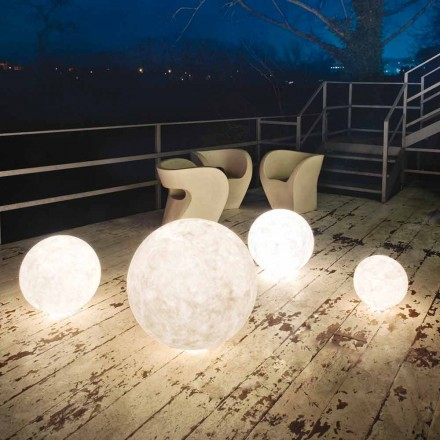 Luminária de pé para exterior In-es.artdesign Ex.Moon in nebulite