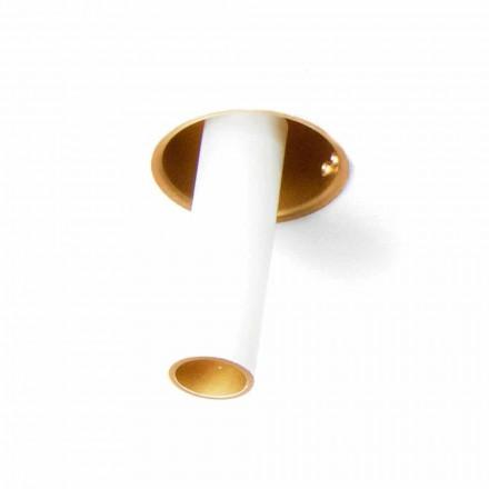 Lâmpada embutida Artisan em alumínio ajustável Made in Italy - Adra