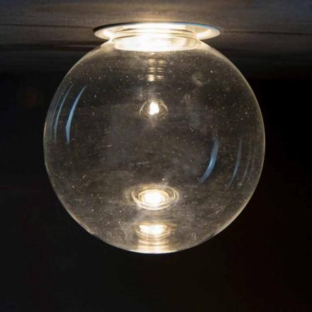 Lâmpada embutida de alumínio com vidro decorativo feito na Itália - Ampolla