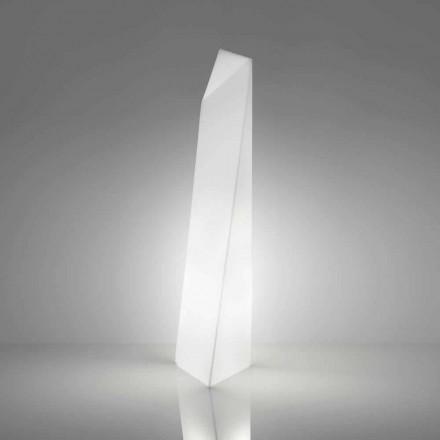 Luminária de pé moderna em forma de prisma branca Slide Manhattan, fabricada na Itália
