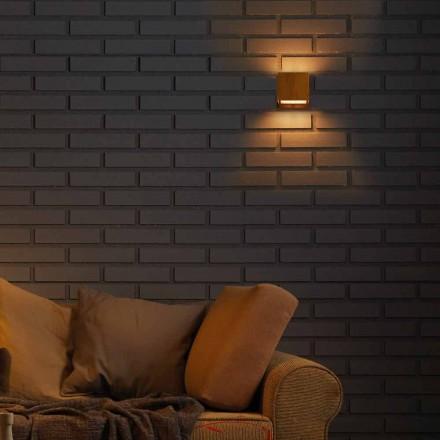 Luminária de parede design em latão e aço 11xH11xsp.10 cm Venere