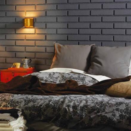 Lâmpada de parede moderna em latão e aço 11x H11xsp.12 cm Bernadet