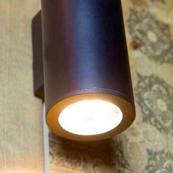 Abajur de ferro cilíndrico feito à mão na Itália - Gemina
