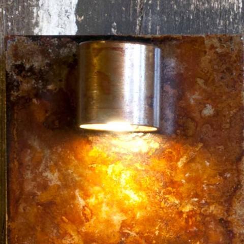 Aplique Artisan em Acabamento Ferro Corten Fabricado na Itália - Cialda