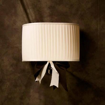 Luminária de parede de seda marfim com design vintage Chanel
