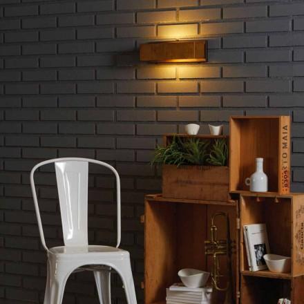 Lâmpada de parede design em latão e aço 35xH 10x9.9 cm Harya