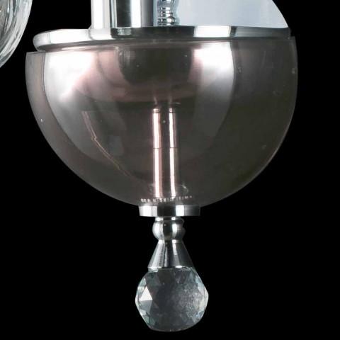 Luminária de parede em vidro design Ivy glass, made in Italy