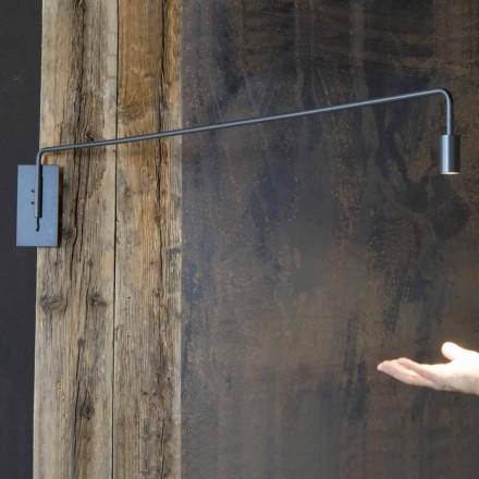 Candeeiro de parede feito à mão com estrutura de ferro Made in Italy - Solana