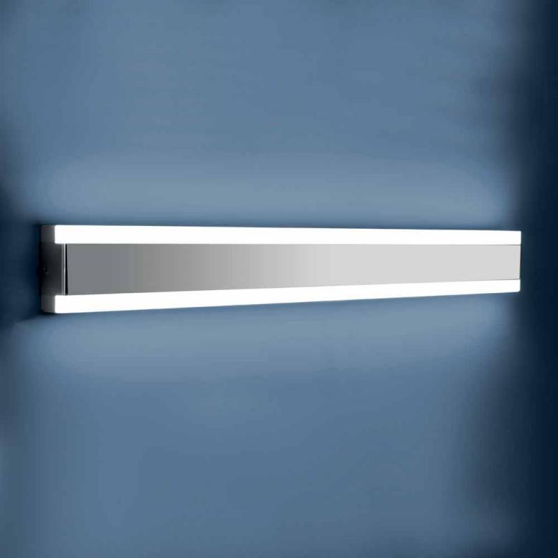 Aplique em Aço Inoxidável, Plexiglass e Alumínio com Luz LED - Magneto