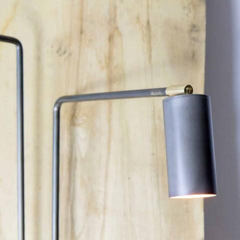 Aplique em Ferro e Alumínio Artesanal Fabricado na Itália - Gemina