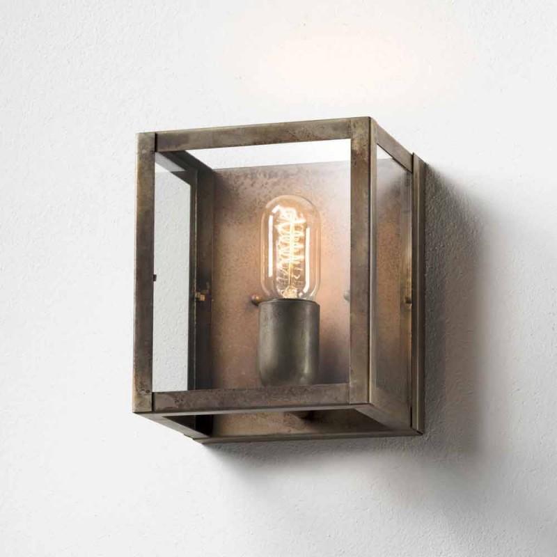 Luminária de parede de ferro estilo industrial London Il Fanale