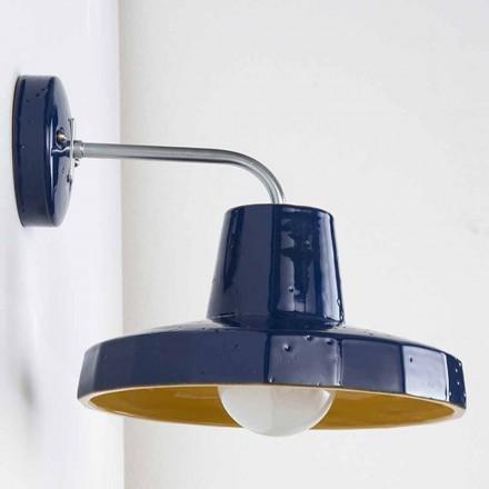 Lâmpada de parede moderna em maiolica e latão toscano, Rossi - Toscot