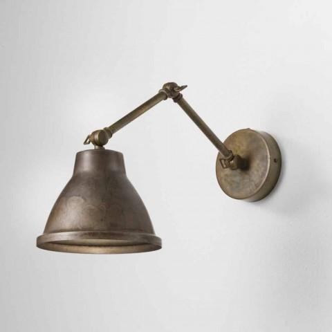 Luminária de parede ajustável em ferro Loft Il Fanale