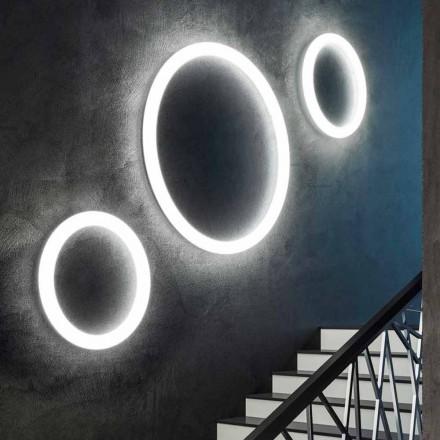Candeeiro de parede LED redondo moderno feito na Itália em polietileno - Slide Giotto