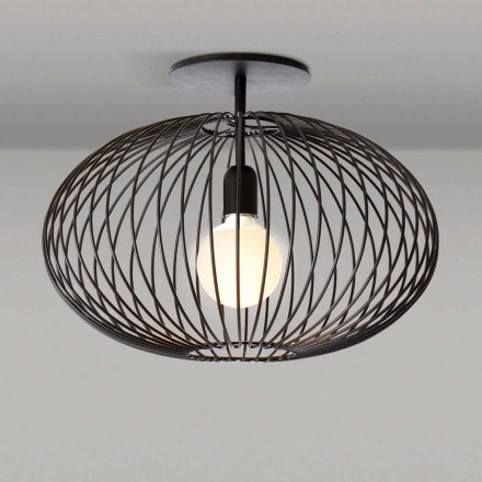Moderna lâmpada do teto em aço pintado, 48xH 35 cm, Heila
