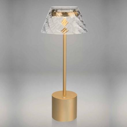 Candeeiro de mesa LED Design Touch em metal e acrílico - Tagalong