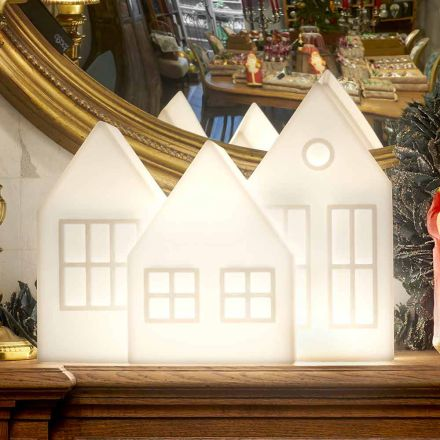 Abajur Casette Led Branco ou Vermelho Design Slide Made in Italy - Kolme