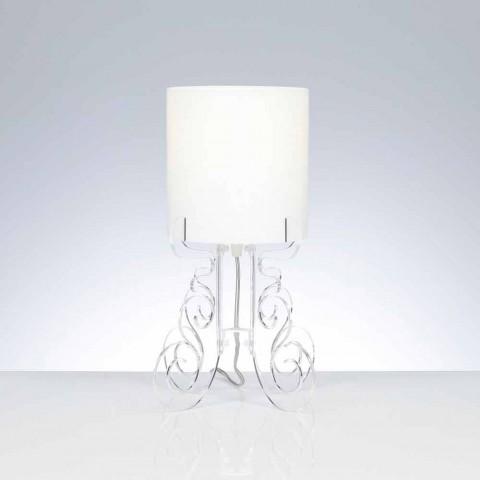 Candeeiro de mesa com abajur cilíndrico, diâmetro 18,5 cm, Samanta