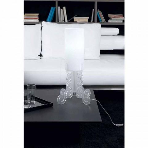 Candeeiro de mesa com abajur cilíndrico, diâmetro 26,5 cm, Samanta