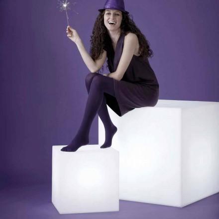 Candeeiro em forma de cupe / mesa branca Slide Cubo, fabricado em Itália
