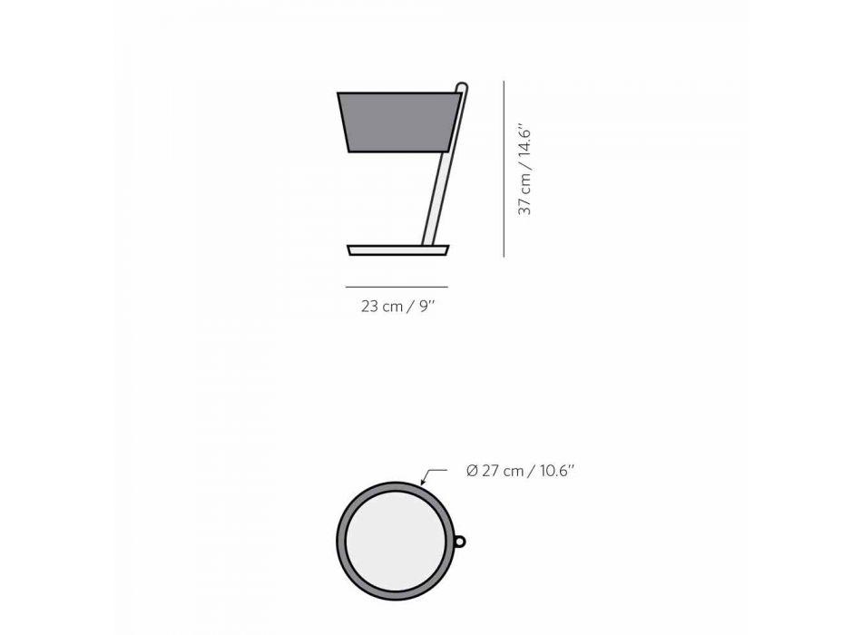 Abajur em Faia com Detalhes em Metal e Couro Vegano - Avetta