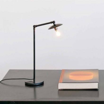 Candeeiro de mesa de ferro com luz ajustável Made in Italy - Amino