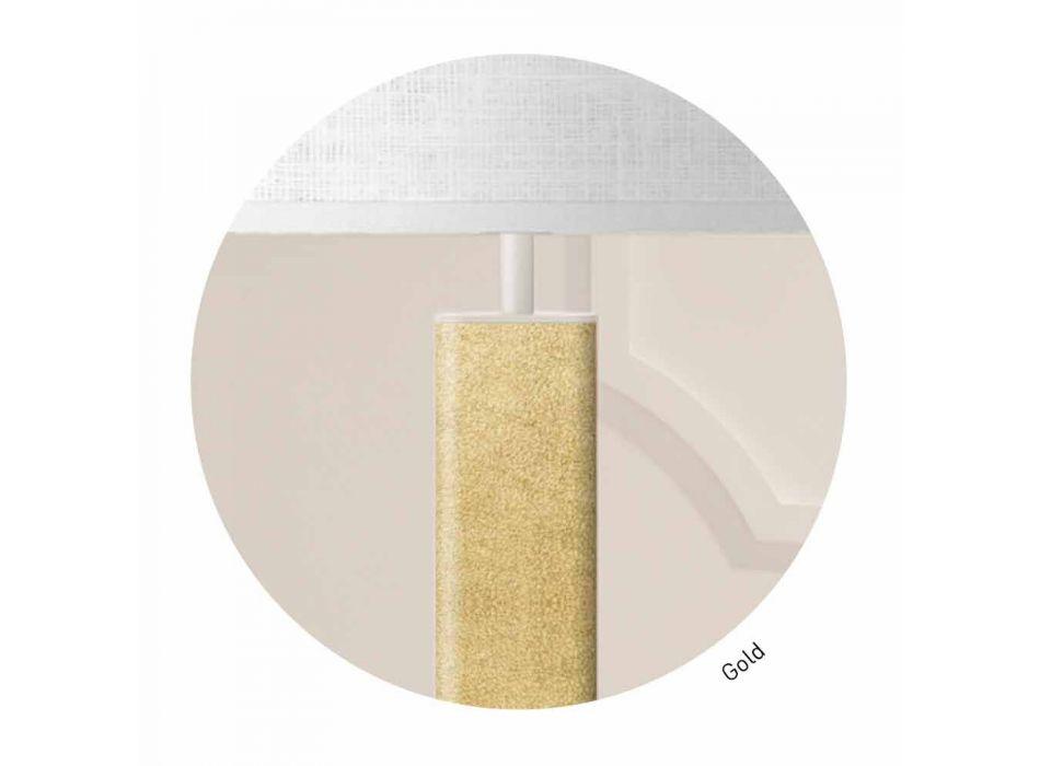 Abajur de mesa de metal com abajur de tecido Made in Italy - Jump