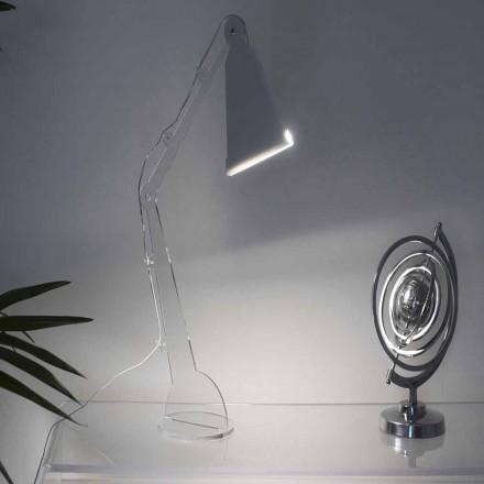 Candeeiro de mesa / leitura estilo tecno com luz LED, Flero