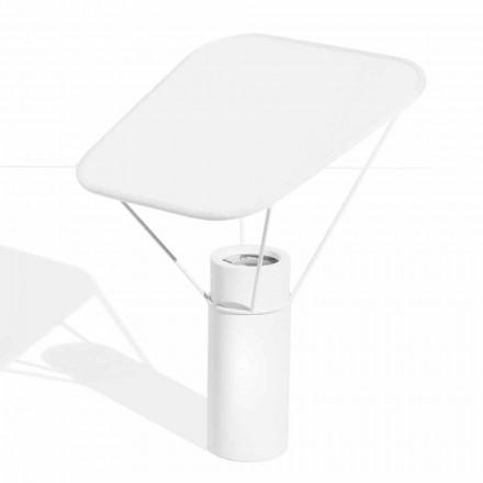 Candeeiro de mesa moderno em resina e algodão branco Made in Italy - Fiera