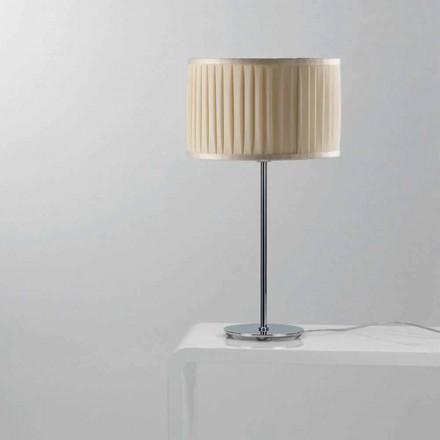 Candeeiro de mesa de design moderno Bambu com cabo de seda cor marfim