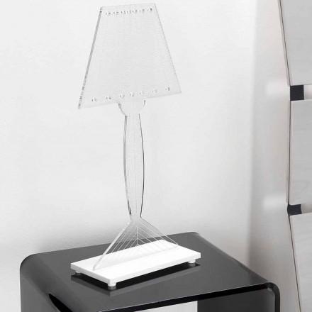Candeeiro de mesa moldado em plexiglass, luz LED, Ferla