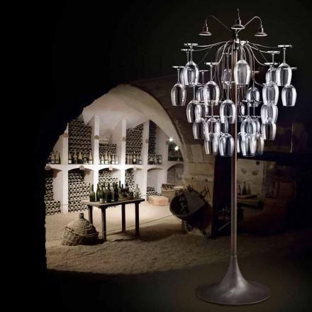 Designer de luminária de chão com 30 copos Sauvignon