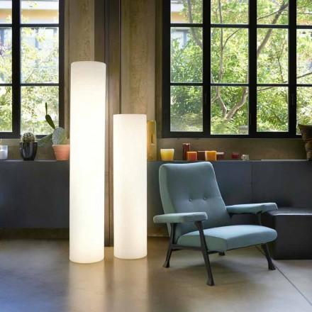 Lâmpada de assoalho cilíndrica de design brilhante Slide Fluo, made in Italy