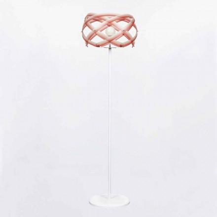 Luminária de pé de metacrilato design moderno Vanna, H 187 cm, efeito desbotado