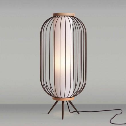 Luminária de pé design moderno em aço diâmetro 37xH80 cm Fanny