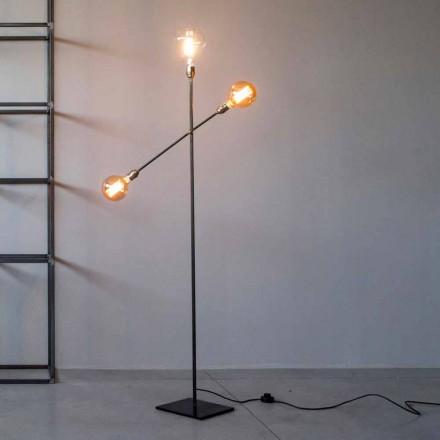 Candeeiro de pé de design em ferro com luzes ajustáveis Made in Italy - Melita