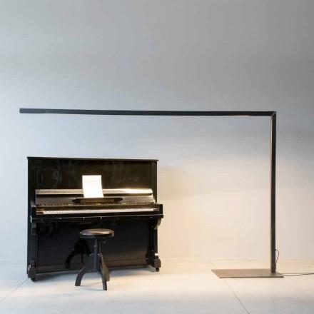 Candeeiro de pé Design em Ferro Preto com Barra LED Made in Italy - Barra