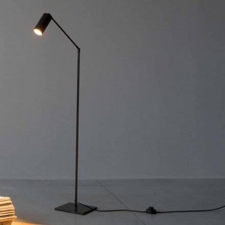 Candeeiro de pé em ferro e alumínio com luz ajustável Fabricado na Itália - Farla