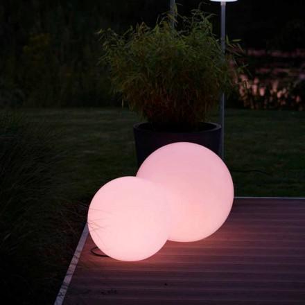 Candeeiro de pé Led Multicolor em polietileno Branco, Design Redondo - Globostar