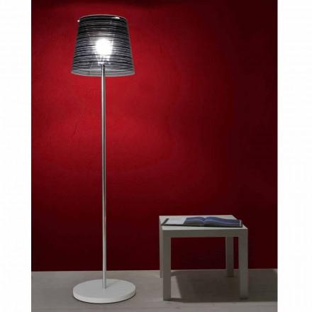Luminária de pé design moderno Shana com abajur anti-reflexo, H 183 cm