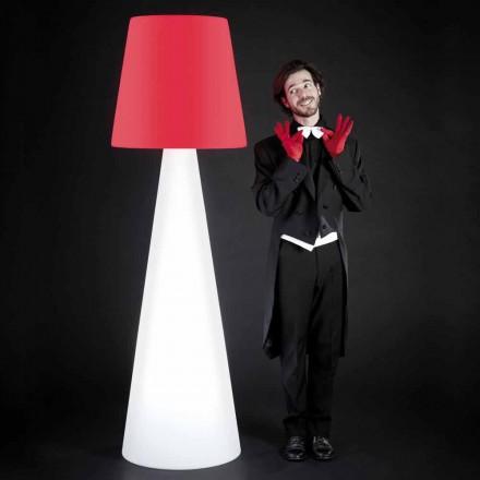 Luminária de chão branca interior design Slide Pivot, produzido na Itália