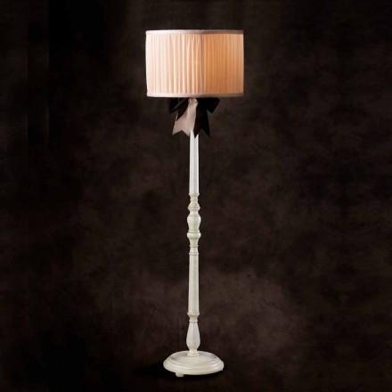 Luminária de pé de seda marfim com design vintage Chanel