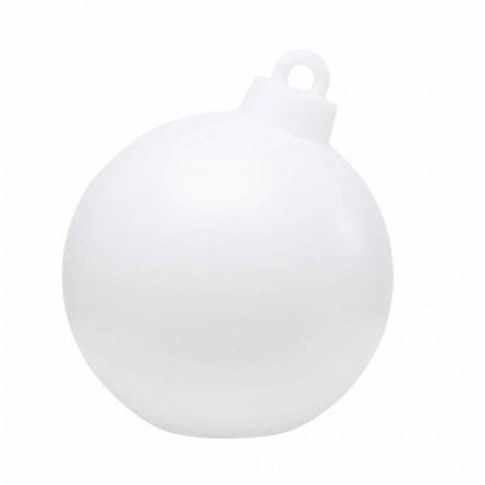 Lâmpada de decoração interna ou externa vermelha, bola de Natal branca - Pallastar