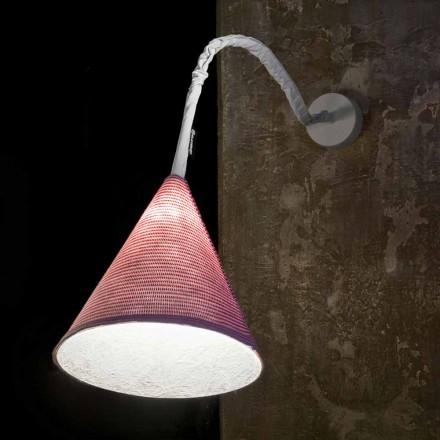Luminária de parede Designer In-es.artdesign Jazz Lã de cor listrada