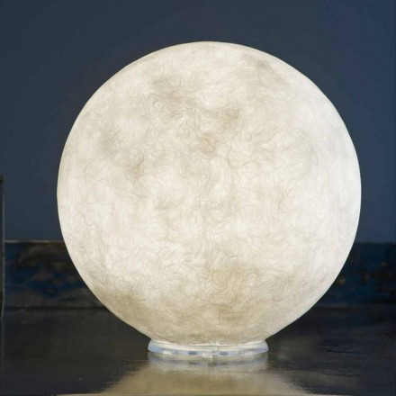 Candeeiro de mesa Design In-es.artdesign T.moon in white nebulite
