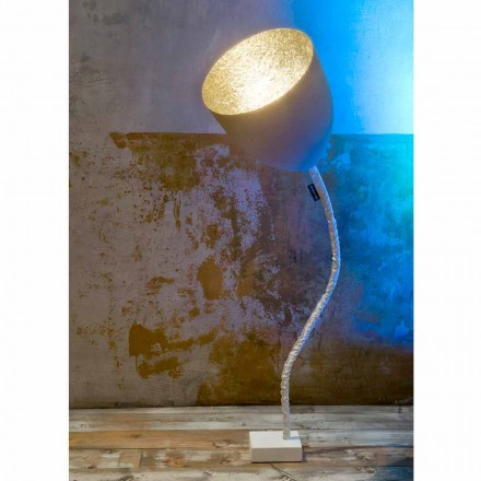 Luminária de pé design In-es.artdesign Flower Painted cement