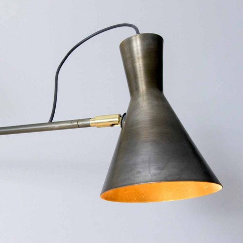 Abajur Duplo Feito à Mão em Ferro e Alumínio Fabricado na Itália - Selina