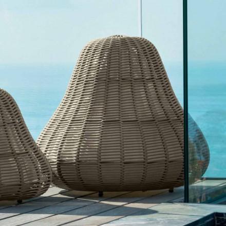 Lâmpada grande com design moderno Jackie por Talenti em cabo sintético