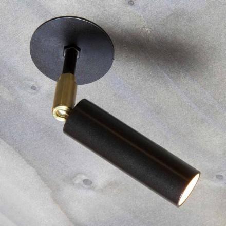 Lâmpada artesanal de alumínio com lâmpada LED ajustável Made in Italy - Radia